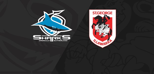 Full Match Replay: Sharks v Dragons - Round 22, 2019
