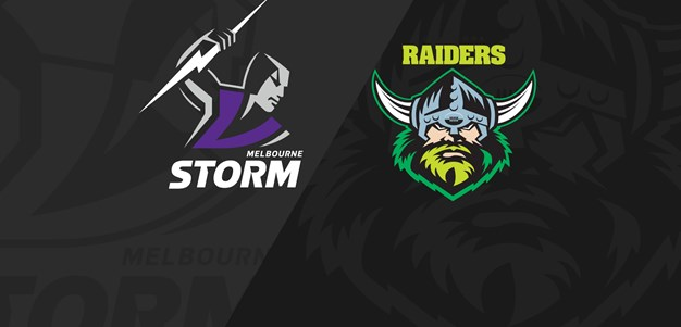 Full Match Replay: Storm v Raiders - Round 22, 2019