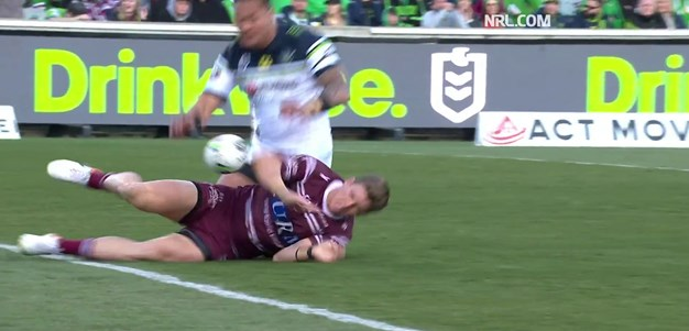 Eight-point try to Garrick hands Manly the lead