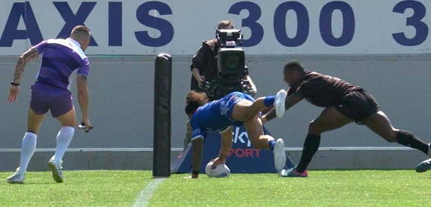 Brilliant flick pass from Lafai sends Taufua in