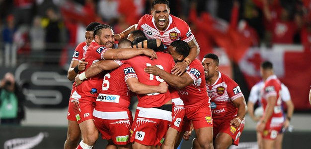 They're up there': Roos praise Tonga after historic win
