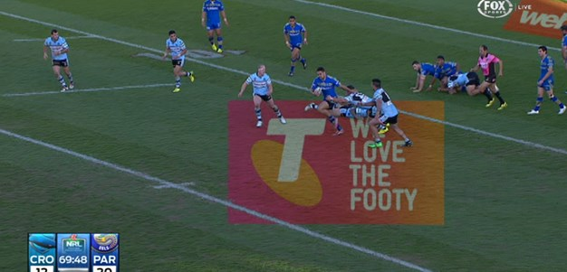 Rd 21: TRY Jarryd Hayne (70th min)
