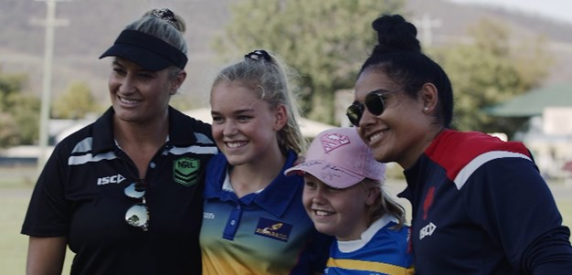 NRLW players visit drought affected regions