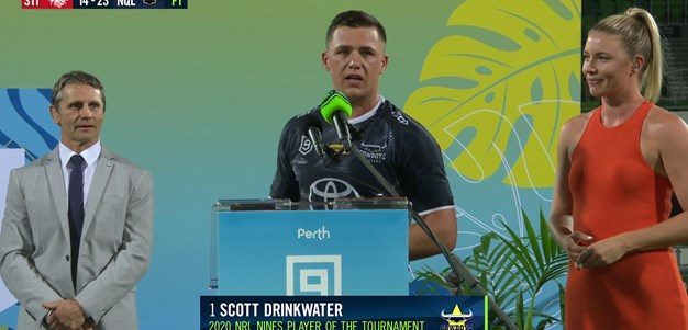 Drinkwater claims player of the tournament at NRL Nines