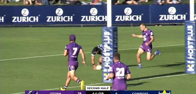 Morgan and Holmes combine for try against Storm
