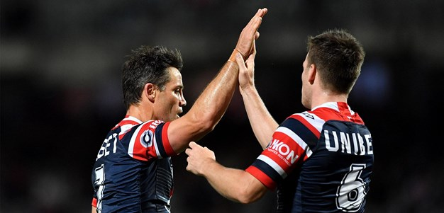 Last time they met: Dragons v Roosters - Round 23, 2019