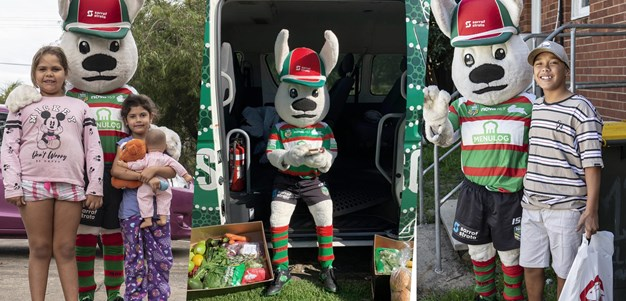 Rabbitohs give back to the community during lockdown