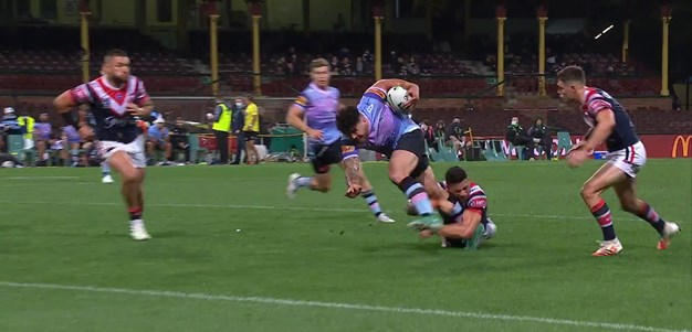 Hamlin-Uele beats SBW to peg one back for Cronulla