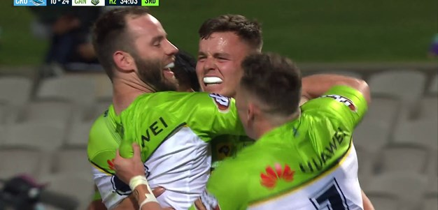 Kai O'Donnell gets his first try in the NRL