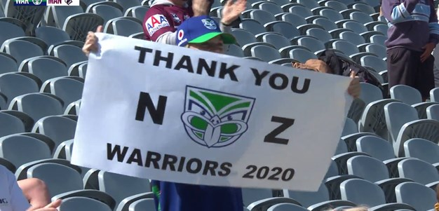 Sea Eagles and fans thank Warriors and Blair with standing ovation