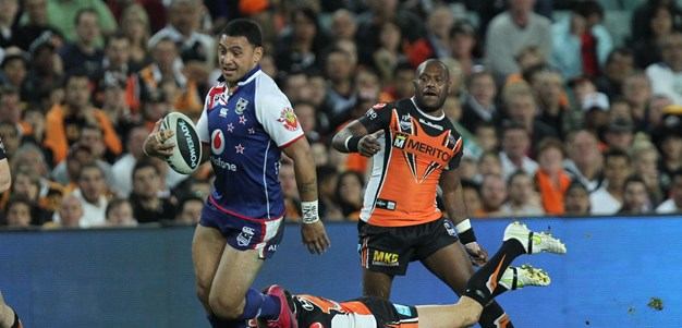 The final moments of the Wests Tigers-Warriors 2011 SF