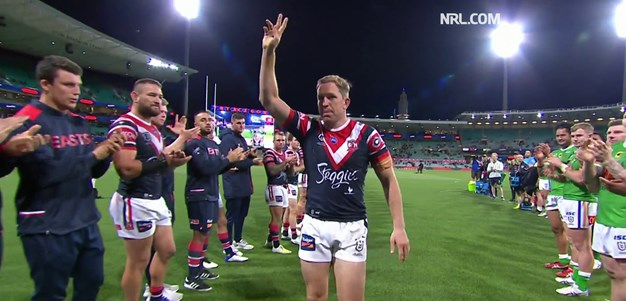Classy finish as Raiders and Roosters farewell Aubusson