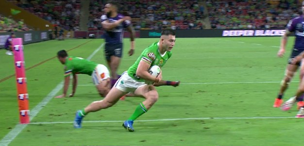 Rapana flicks a pass to Cotric for his second