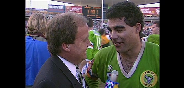 Iconic speeches: Mal celebrates Canberra's first premiership