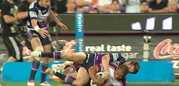 Matai gets Manly's first just before the break