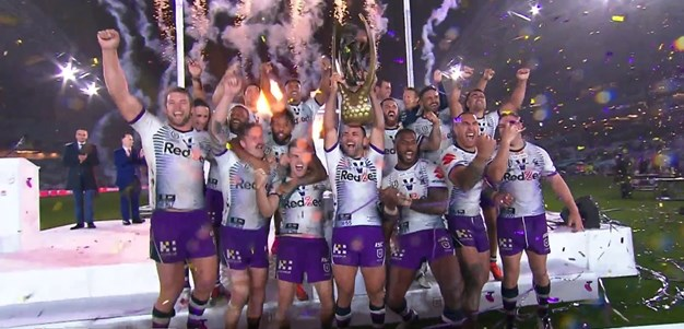 Cameron Smith pays tribute to Victoria then raises Provan-Summons trophy