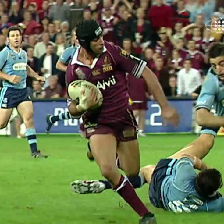 Thurston gets his first Origin try in 2005 decider
