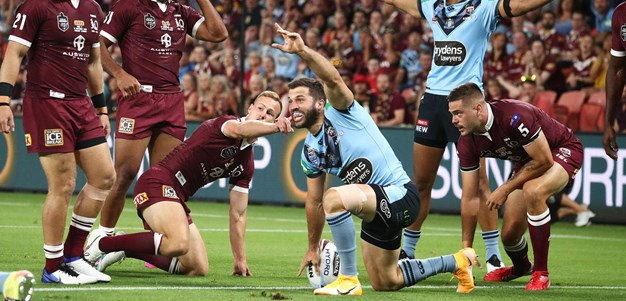Tedesco pounces on a Maroons mistake