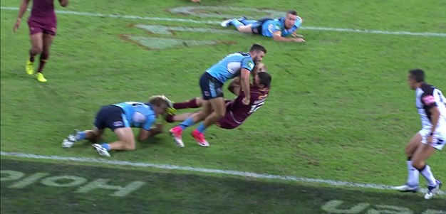Tedesco saves two tries in two tackles