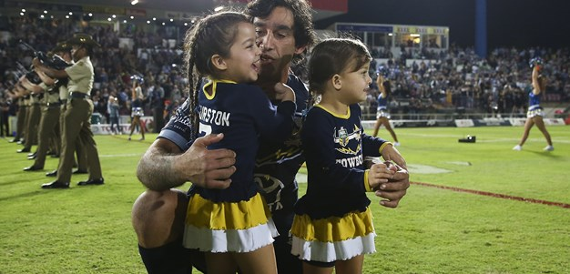 Thurston runs out for his final home game