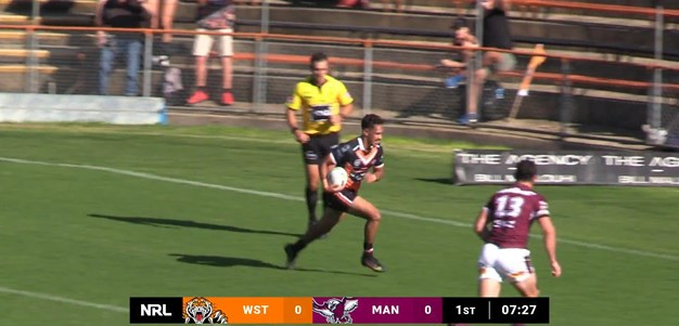 New recruit Laurie scores the opener for Wests Tigers