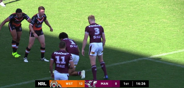 Weekes on the spot as Wests Tigers spill the ball at the back