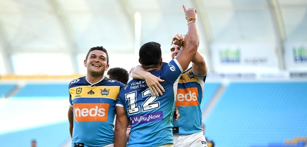 Fifita's hat-trick against the Knights in all its glory
