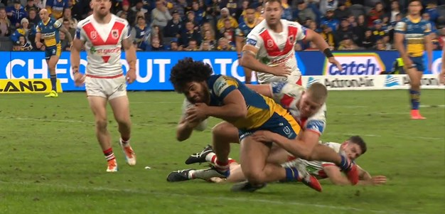 Brown and Papali'i combine to get Parramatta on the board