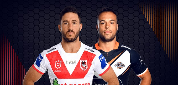 Dragons v Wests Tigers - Round 8