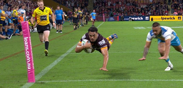 Raining tries at Suncorp as Coates sprints away