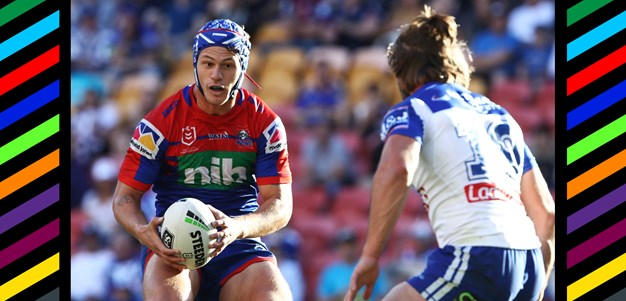 Magic Moments: Ponga steps his way over the tryline
