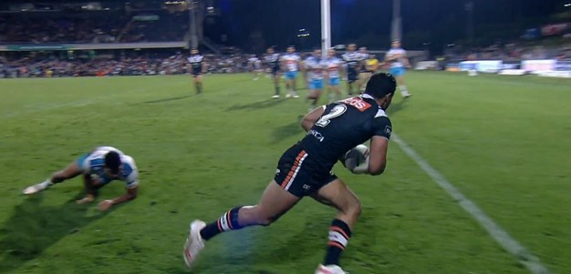 A quick-fire double to Nofoaluma gives Wests Tigers hope