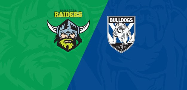 Live stream: Canberra Raiders v Canterbury Bankstown Bulldogs