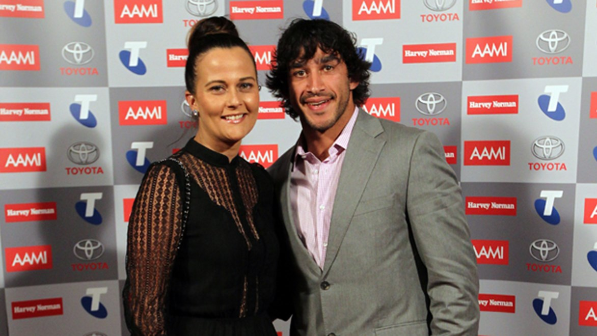 Cowboys star Johnathan Thurston and partner Samantha are expecting baby number one around kick-off for State of Origin I.