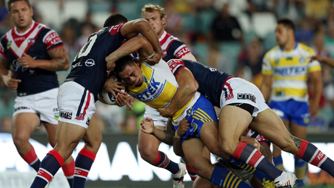 Statistics through Round 8 of this season show NRL teams are on average missing fewer tackles than ever before – headed by the benchmark Roosters side that is missing just 17.8 tackles every 80 minutes.