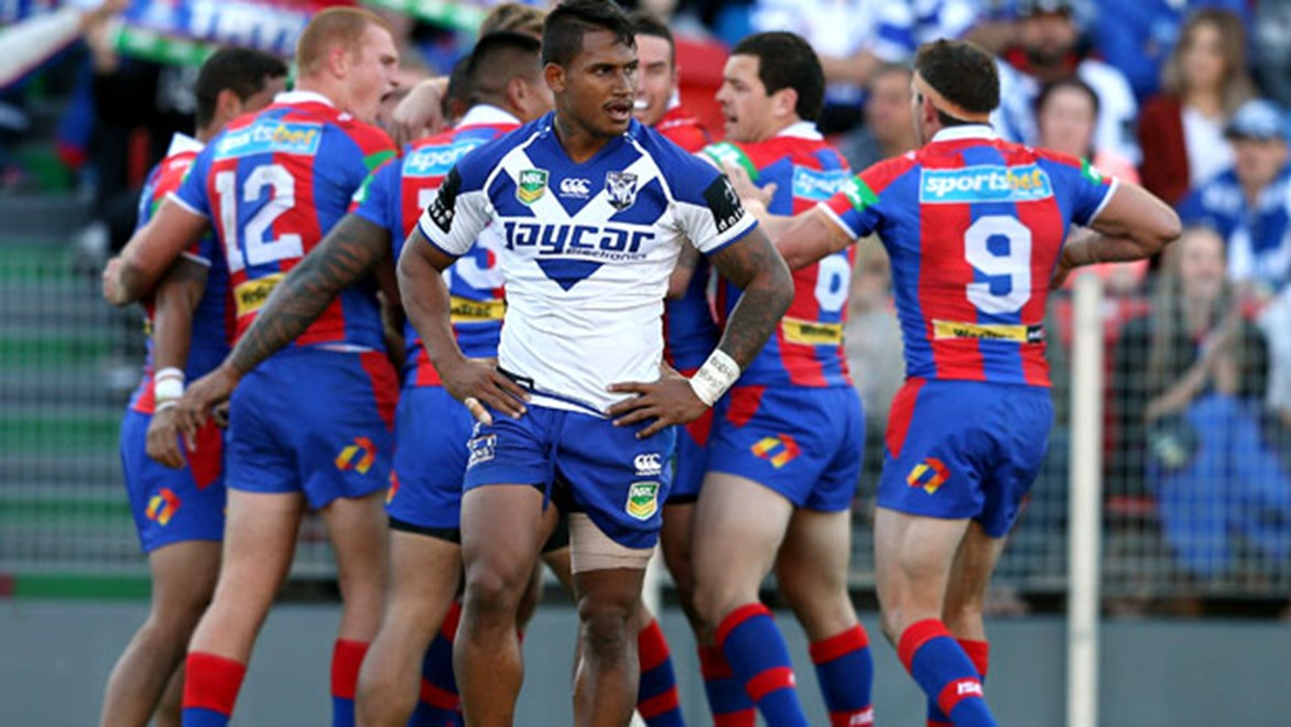 Newcastle thrashed Canterbury 44-8 at Hunter Stadium.