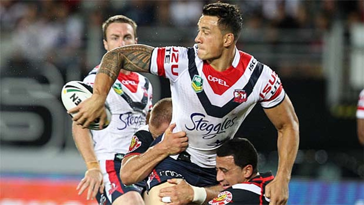 Sonny Bill Williams is ranked third in the NRL for offloads in 2013