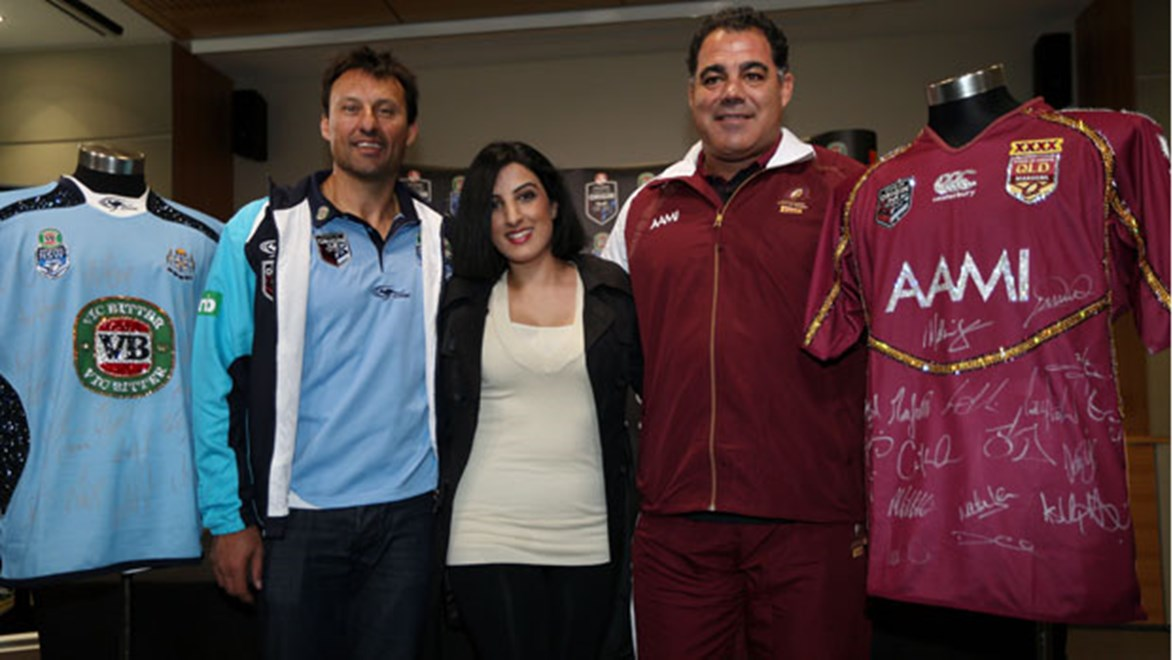 Laurie Daley and Mal Meninga help Launch the State of Mind campain