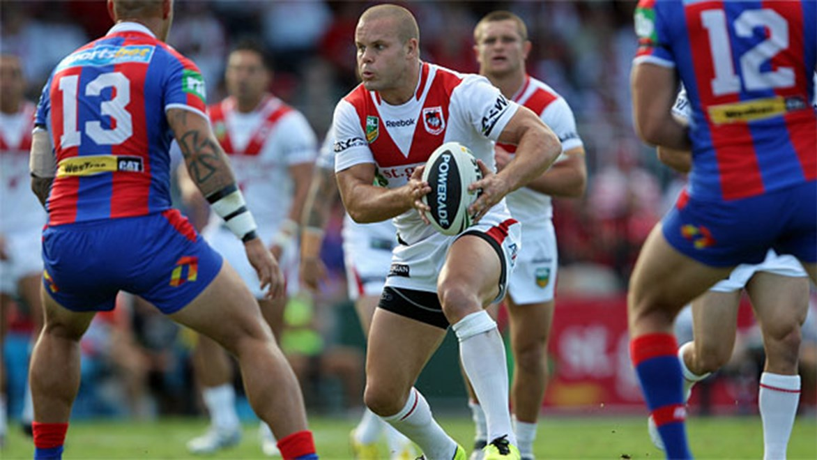 Dan Hunt in action for St George Illawarra against Newcastle
