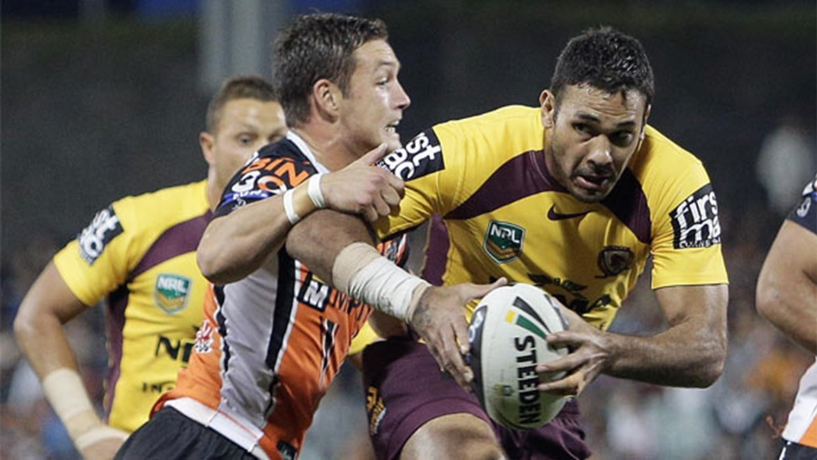 Justin Hodges looms as a key player on Monday night against the Tigers