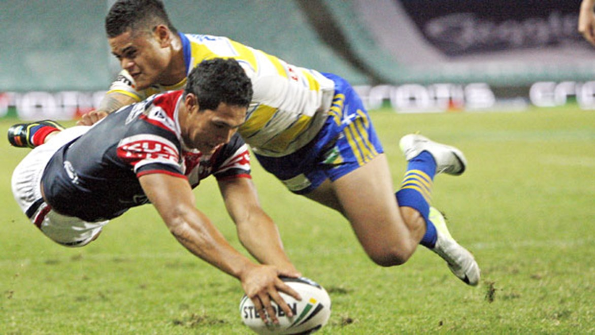 Brilliant winger Roger Tuivasa-Sheck almost joined the Warriors before signing with the Roosters instead; on Sunday he will concede a whopping 15 kilograms in his head-to-head confrontation with Manu Vatuvai at Allianz Stadium.
