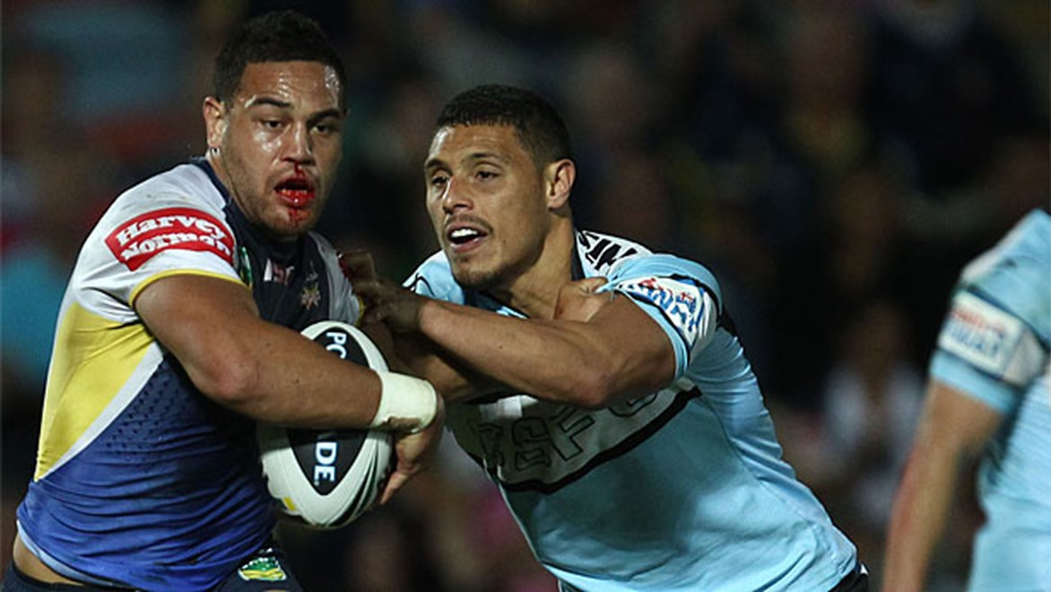 Antonio Winterstein scored a crucial try for the Cowboys in their vital win over Cronulla.