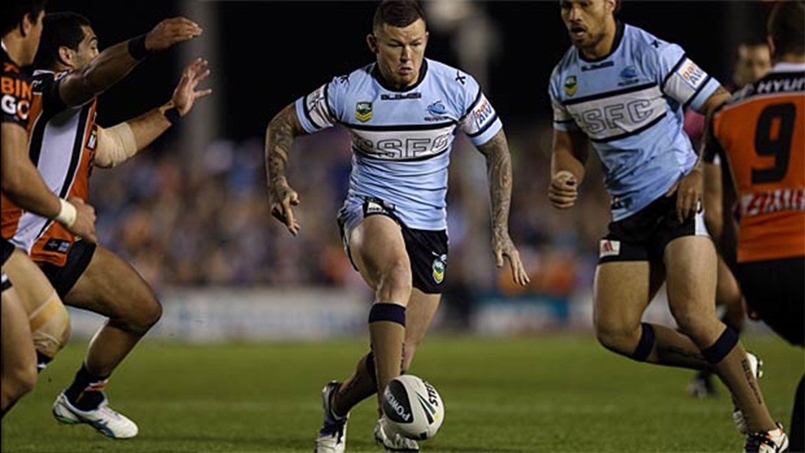 Todd Carney produced a brilliant kicking performance in the Sharks' win