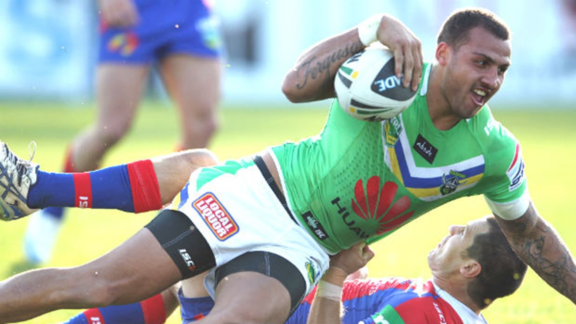 Canberra prop Dane Tilse isn't letting on whether star centre Blake Ferguson will suit up for the Raiders against the Dragons tonight