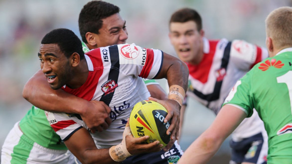 The junior Roosters will earn Holden Cup favouritism if they can make it five from six by toppling season-long giants Canberra on Saturday.