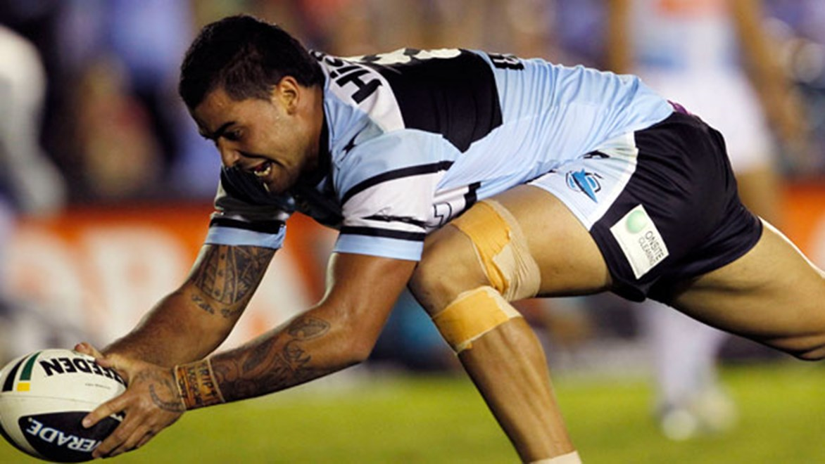 Prop Andrew Fifita's flashes of brilliance and muscle work up front have kept the Sharks on the front foot in 2013.