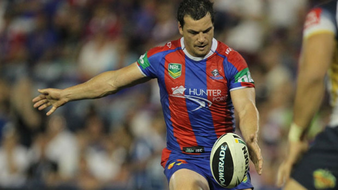 The Knights have scored the third-most tries from kicks in 2013, largely off the boot of five-eighth Jarrod Mullen.