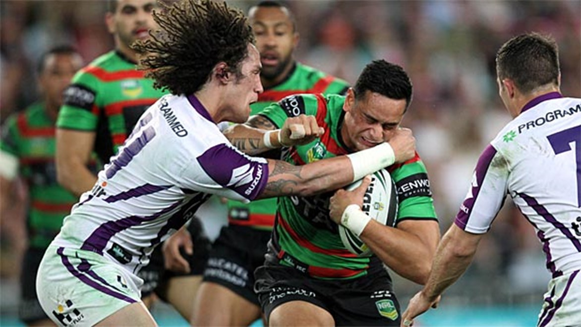 Souths have knocked Melbourne off their game in the first half before closing out their qualifying final