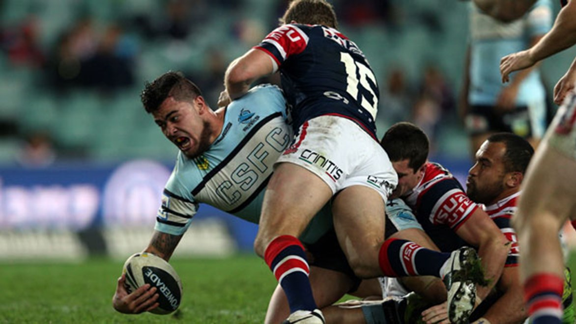 Powerhouse prop Andrew Fifita was the Sharks' leading tryscorer in 2013 with nine four-pointers.