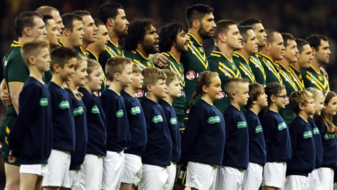 The Kangaroos are donating jerseys from their Tour kit to be auctioned to raise money for bushfire victims.